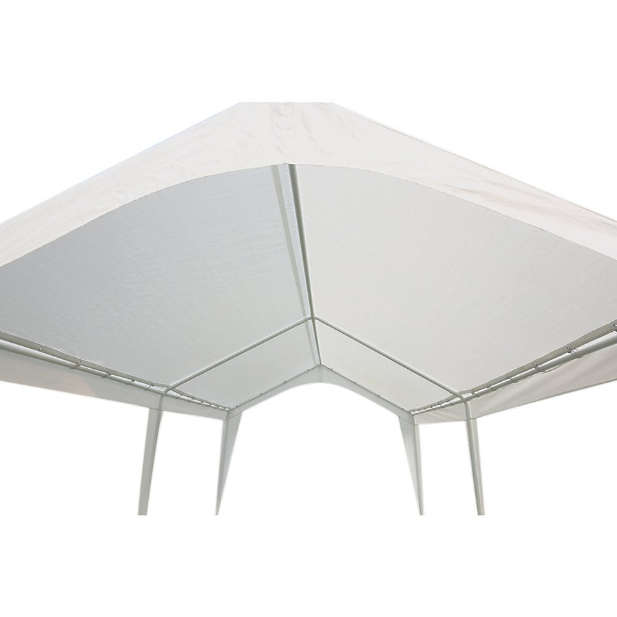 Abba Patio Cover Replacement For 10 X 20-Feet Outdoor Carport With 6 Steel Legs, White (Frame Not Include)
