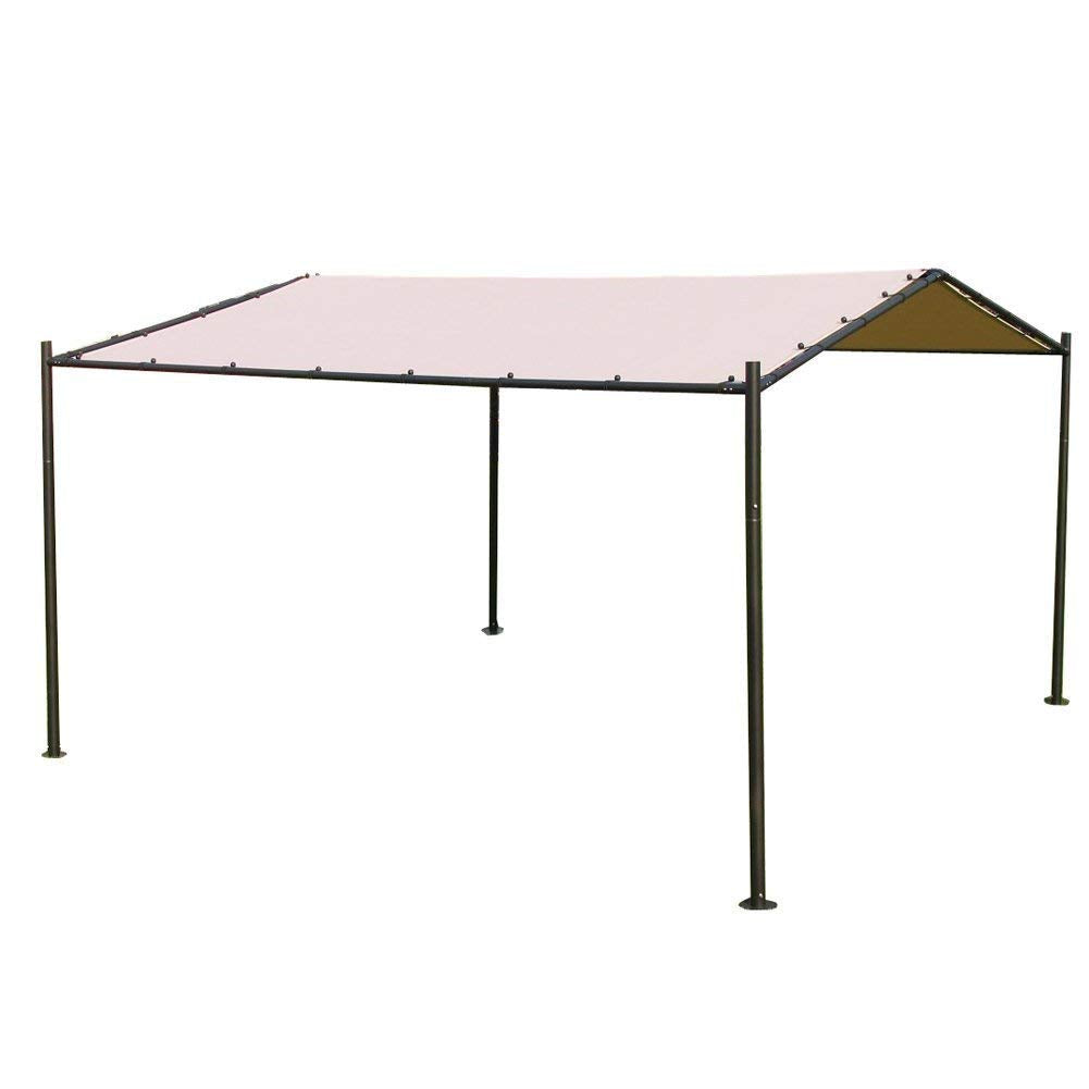 Abba Patio Garden Butterfly Gazebo 13' x 11.5' Soft Top Outdoor Canopy - Beige