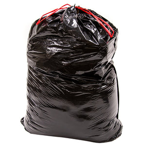 ABBA ECO 39 Gallon Lawn & Leaf Trash Garbage Bag, Black, Qty: 50 count (2/ 25 bag rolls per carton)