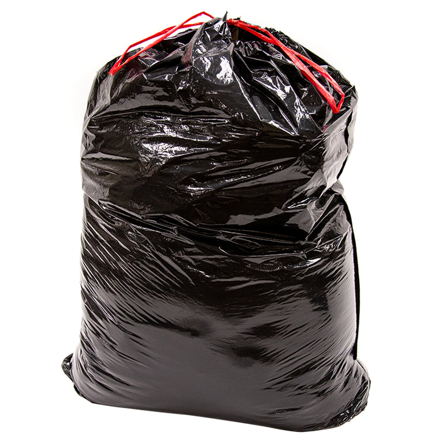 39 Gallon Lawn & Leaf Trash Garbage Bag, Black, Qty: 50 count (2/ 25 bag rolls per carton)