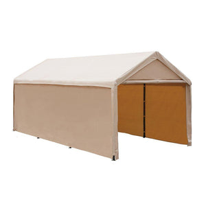 Abba Patio Replacement End Panel for 10 x 20-Feet Heavy Duty Carport, Beige (Only 1pc End Panel, Frame, Top Cover and Sidewall not Include)