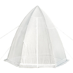 Abba Patio Portable 10.4'D x 9'W Hexagonal Walk in Greenhouse Fully Enclosed Lawn and Garden Outdoor Tent with Window, White