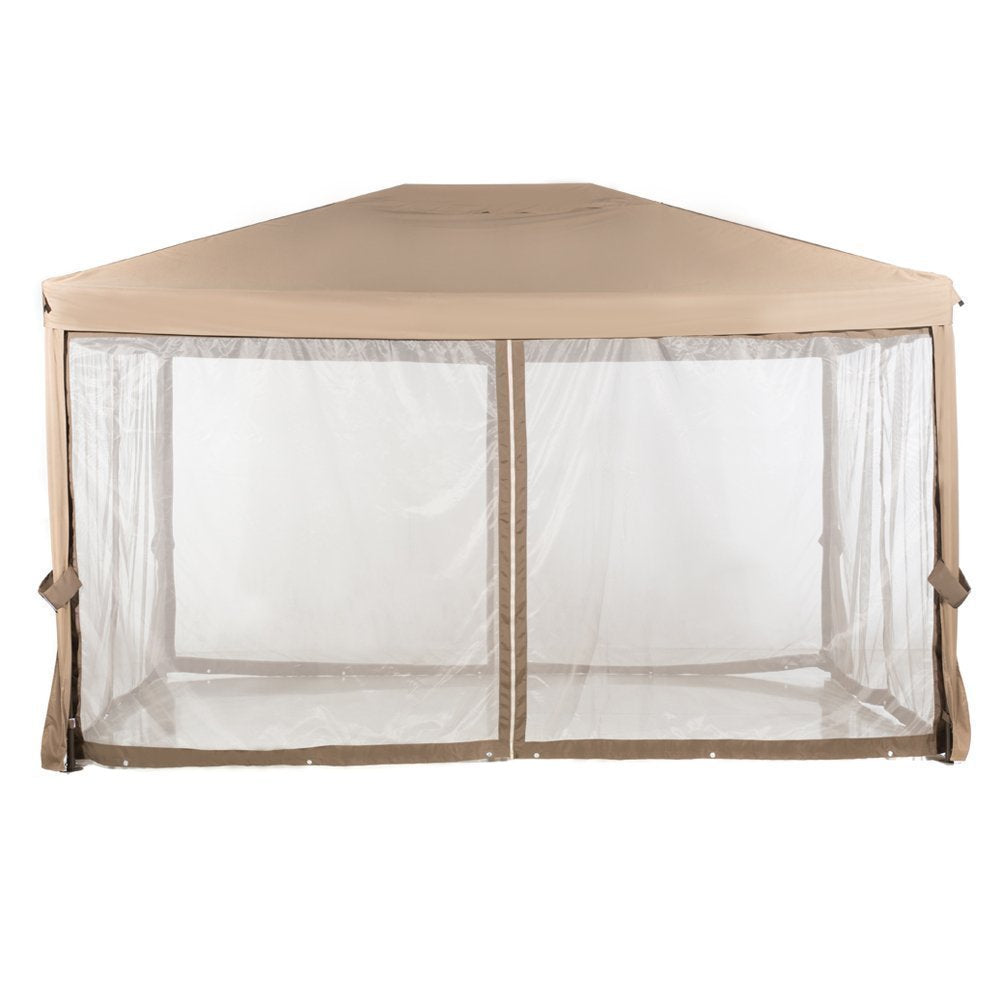Abba Patio Replacement Top Canopy for 10x13 Feet Garden Gazebo, Brown (Frame and Netting not Include)