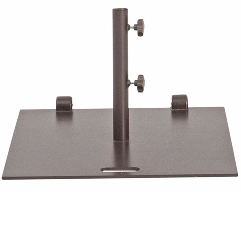 Square Steel Wheeled Free Standing Umbrella Base, 78 lbs