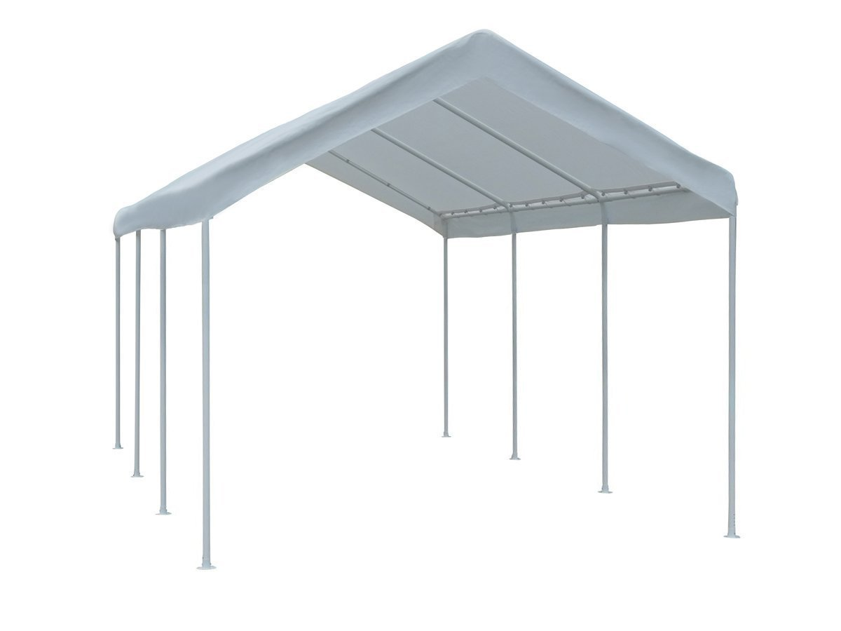 Abba Patio Cover Replacement for 10 x 20-Feet Outdoor Carport with 8 Steel Legs, White (Frame not Include)