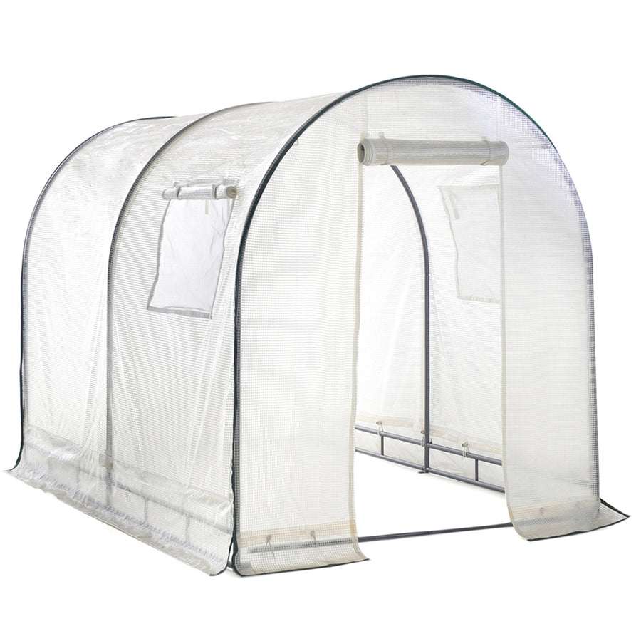 Abba Patio Walk in Greenhouse 8'L x 6'W x 6.6'H Fully Enclosed with Windows, White
