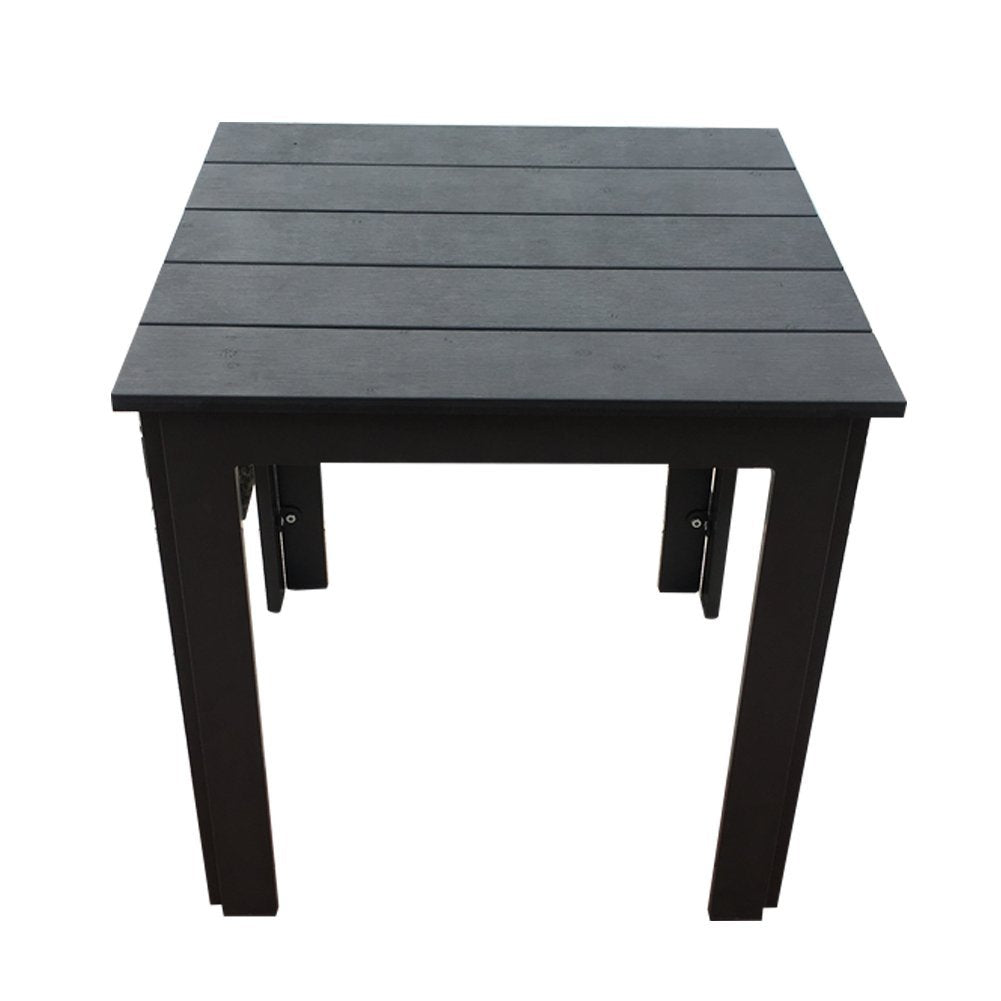 "Side Table Recycle Wood Plastic Composite End Table, 22""W x 22""D x 22""H"