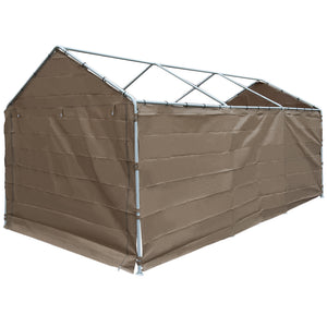 Abba Patio Replacement Canopy Cover for 10 x 20-Feet Carport 8 Legs Carport Shelter with Rings (Frame & Top Cover Not Included)