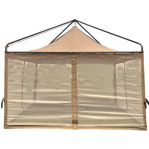 SORARA 12 x 12 Feet Gazebo Soft Top Fully Enclosed Garden Canopy with Mosquito Netting, Brown