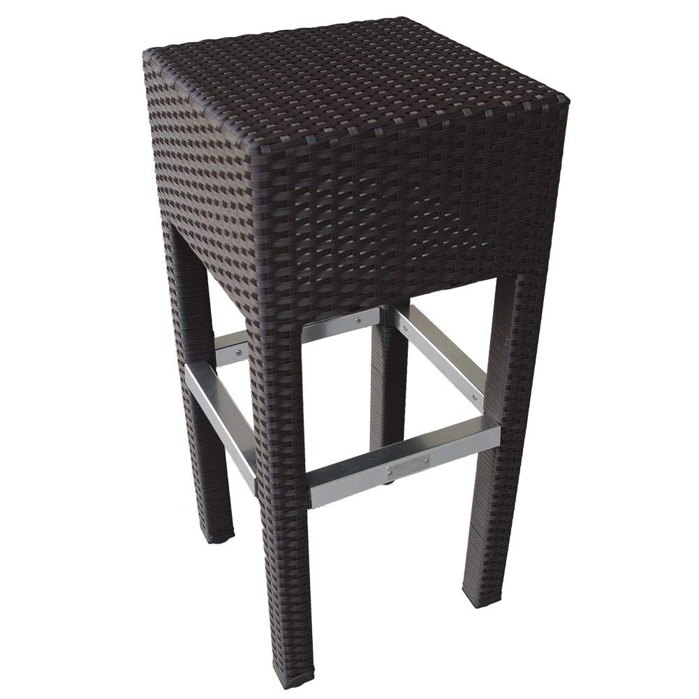 Outstanding Abba Patio Outdoor Wicker Barstool Patio Furniture Bar Stool Brown Home Interior And Landscaping Ologienasavecom