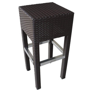 Abba Patio Outdoor Wicker Barstool Patio Furniture Bar Stool, Brown