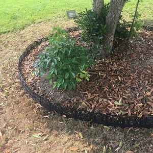 ABBA ECO Garden Fence Border Recycled Plastic Garden Edging Set 12 Pack, 6.4 Inch X 5.7 Inch, Black