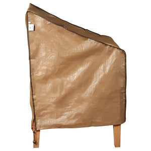 "Water Resistant Lounge Chair Cover, 28"" L x 2"" W x 24"" H, Brown"