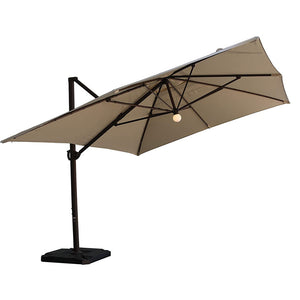 Sorara 10 x 13.1 Feet Cantilever Patio Umbrella with Solar Lights