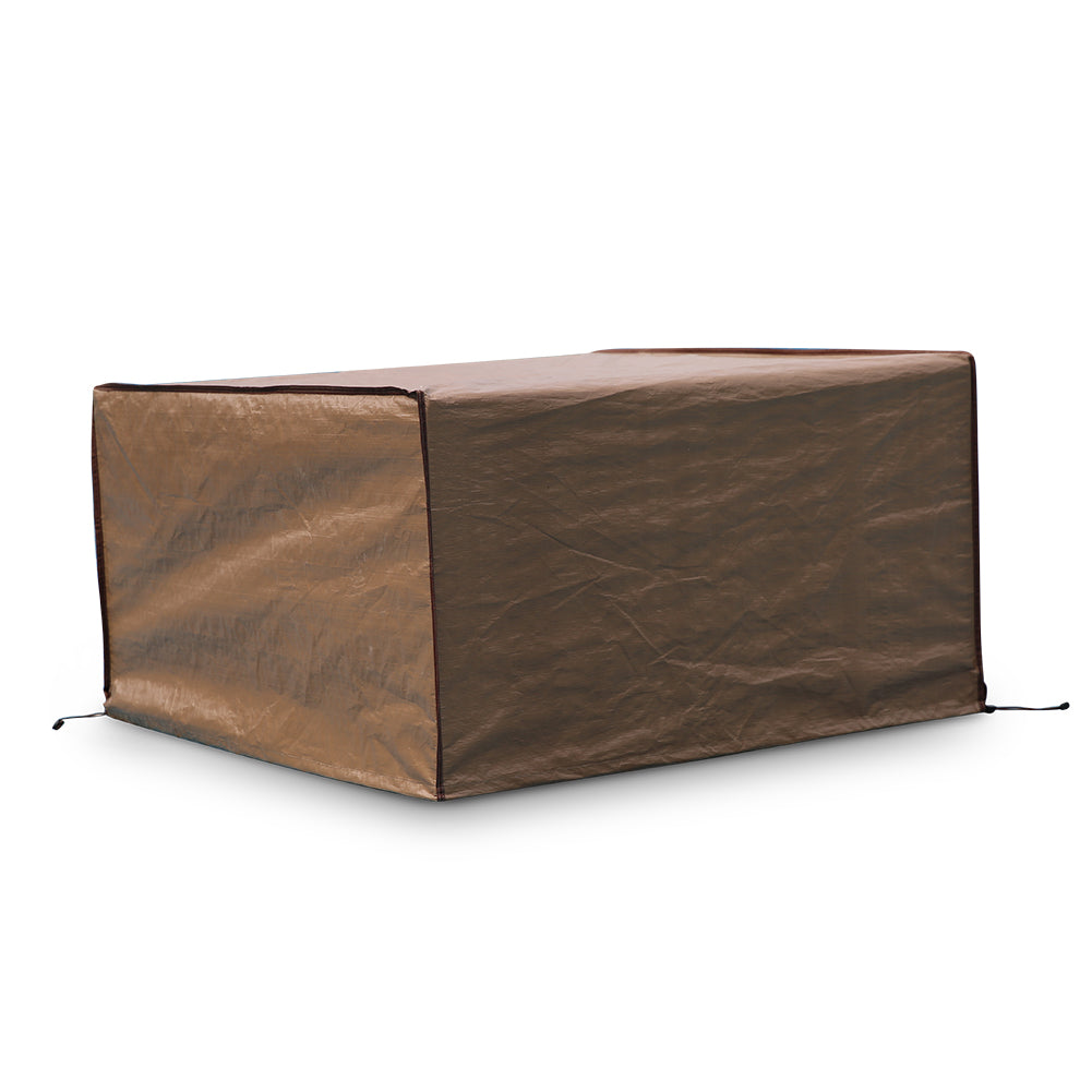 Pleasant Square Fire Pit Table Cover Outdoor Cover Waterproof 43 Inch Brown Theyellowbook Wood Chair Design Ideas Theyellowbookinfo