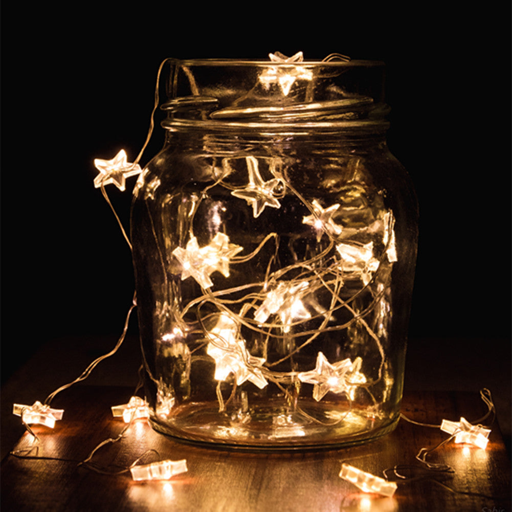 abbapatio.com - Abba Patio 9.5ft 30LED String Lights Battery Operated for Decoration Wedding Bedroom Garden 9.99 USD