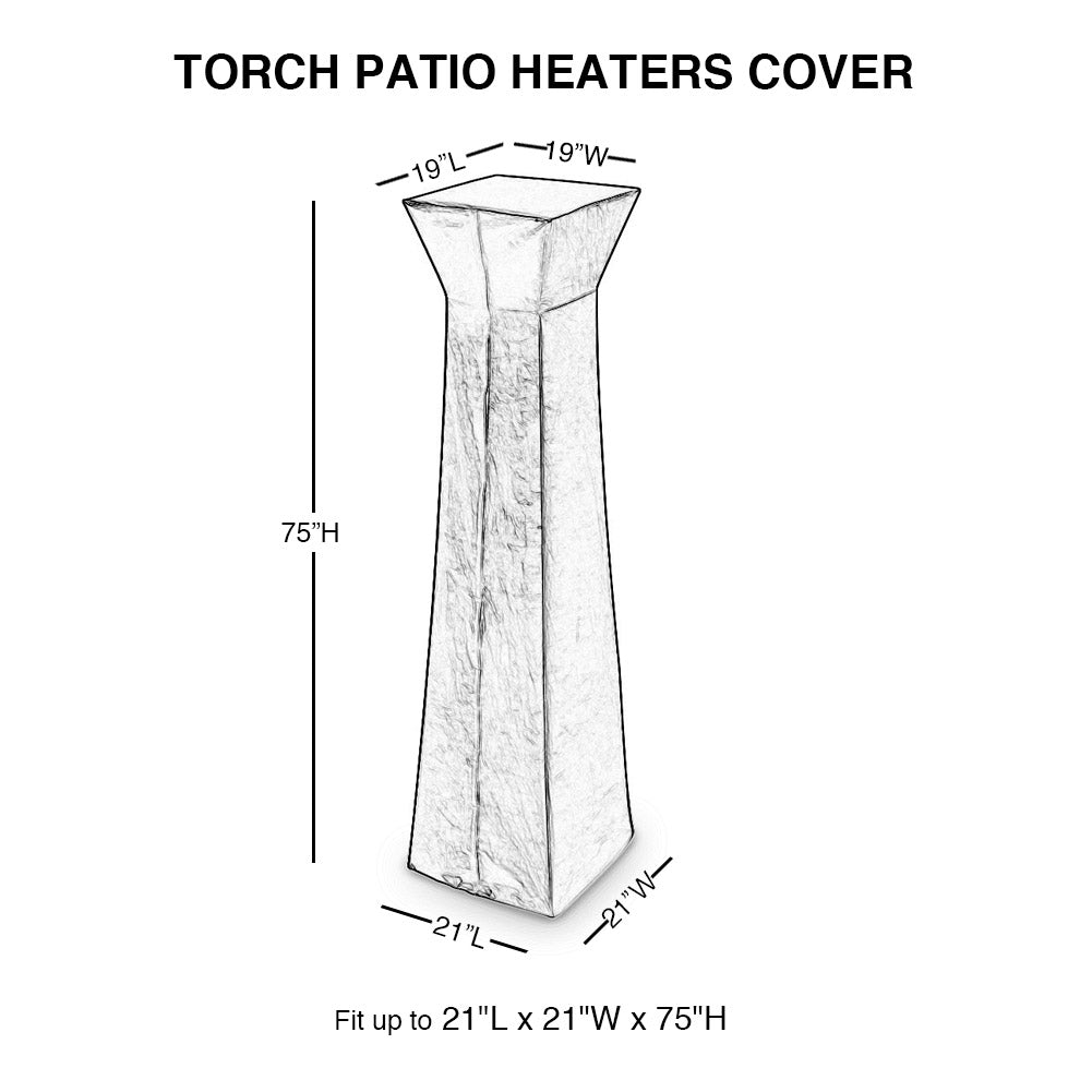 Outdoor Cover Pyramid Torch Patio Heaters Waterproof