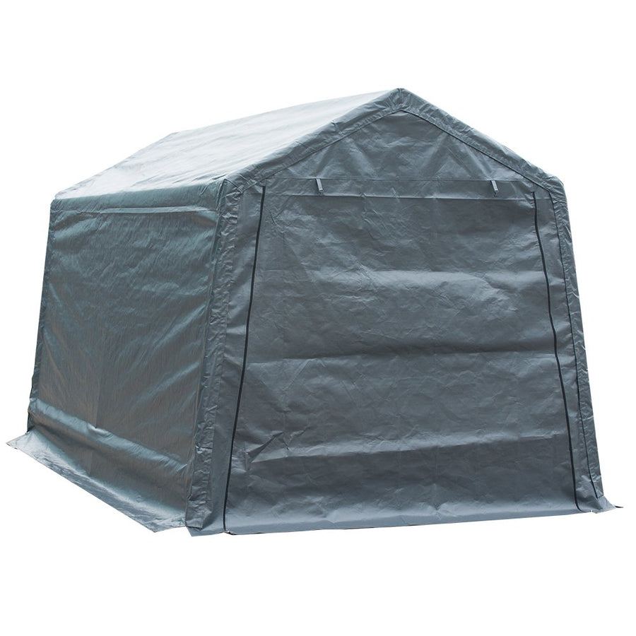 Abba Patio Replacement End Panel for 7 x 12 Feet Storage Shelter, Grey (Only End Panel, Frame, Top Cover and Sidewall not Include)
