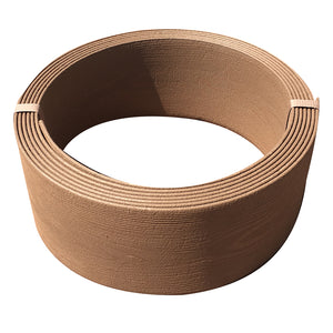 Abba Patio Edging Coil Recycled Plastic And Wood Composite Fence Garden Landscape Border, Coffee
