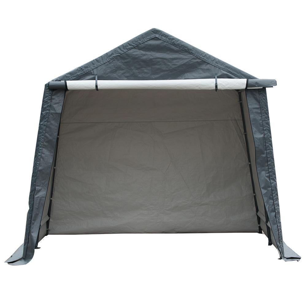 10 x 10- Feet Outdoor Carport Shed Heavy Duty Car Canopy, Grey