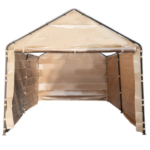 Abba Patio Replacement Cover for 10 x 20-Feet 6 Legs Carport Shelter with Rings, (Frame & Top Cover Not Included)