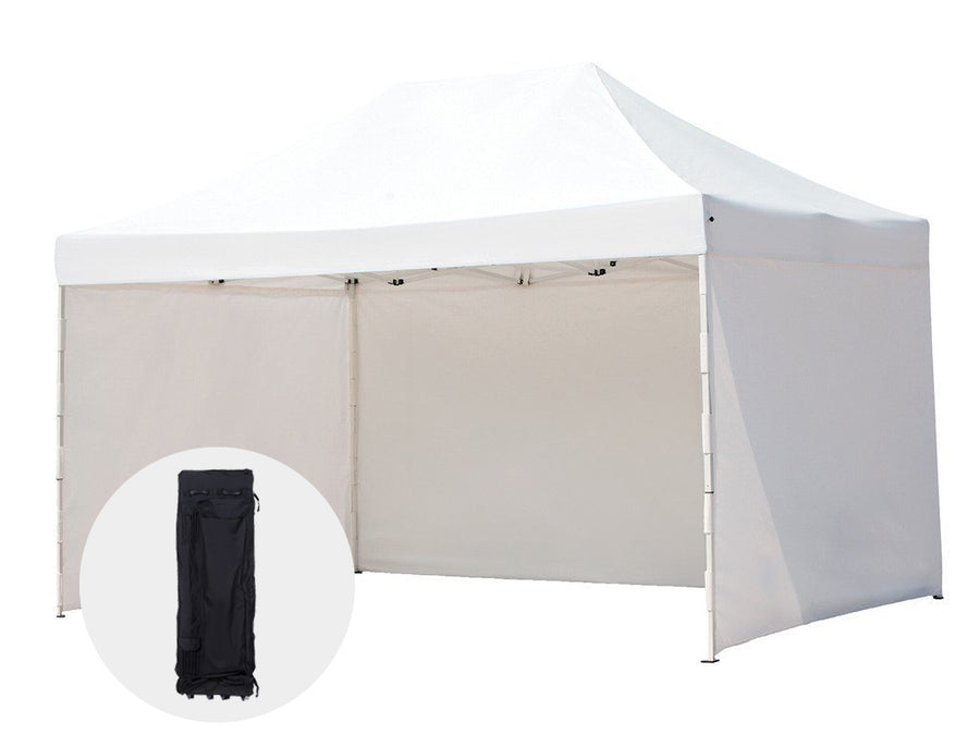 Abba Patio 10 x 15 ft Pop Up Heavy Duty Instant Canopy Commercial Portable Canopy with Sidewalls Enclosure, White