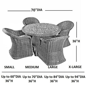 Waterproof Round Table And Chair Set Cover Porch Furniture Cover