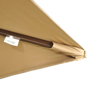 Abba Patio Cover Replacement for 9 x 7 Feet Rectangular Patio Umbrella, Brown (Frame not Include)