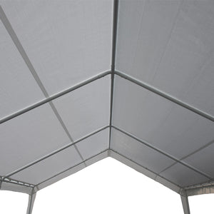 12 x 20-Feet Carport Replacement Top Canopy Cover for Garage Shelter with Ball Bungees, White (Frame Not Included)