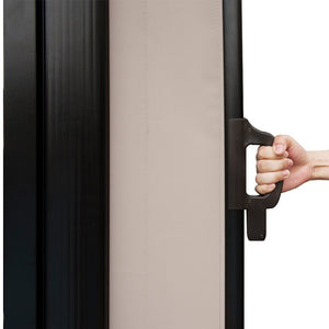 Patio Privacy Divider with Steel Pole, 5.2'H, Beige