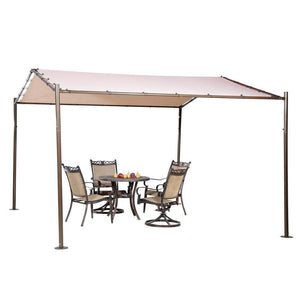 Abba Patio Garden Gazebo 13' x 11.5' Soft Top Outdoor Canopy - Beige