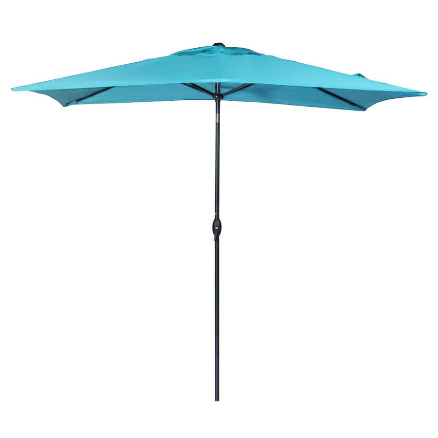 Rectangular Patio Umbrella Outdoor Market Table Umbrella with Push Button Tilt and Crank, 6.6 by 9.8 Ft