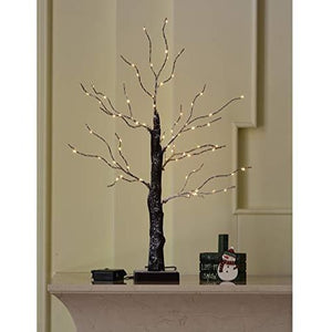 25 Inch 72LED Battery Powered White Branch Light