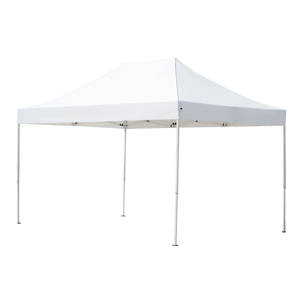 Abba Patio 10 x 15 ft Outdoor Heavy Duty Pop Up Portable Instant Canopy Event Commercial Folding Canopy, White