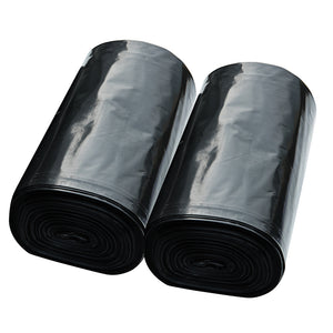 ABBA ECO 42 Gallon Outdoor Lawn & Leaf Trash Garbage Bag, Handle Ties, Black, Qty: 50 count (2 /25 bag rolls per box)