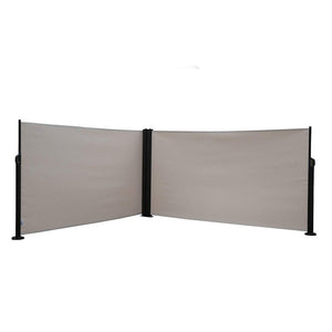 2 Panel Room Divider,  Steel Pole, 5.2'H, Beige