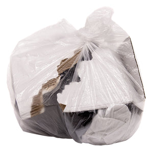 8 Gallon Clear Wastebasket Liner Kitchen Trash Garbage Bag, White