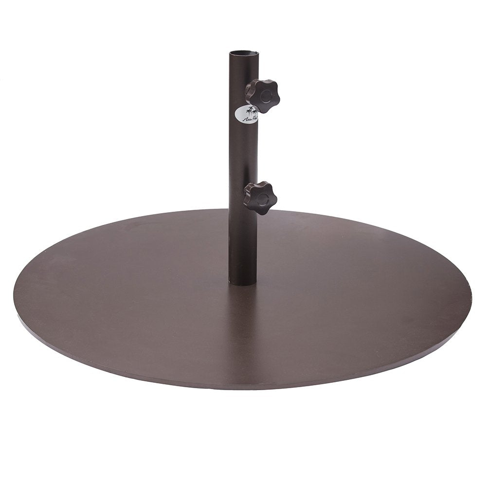 Round Steel Market Patio Umbrella Base, 55 lbs