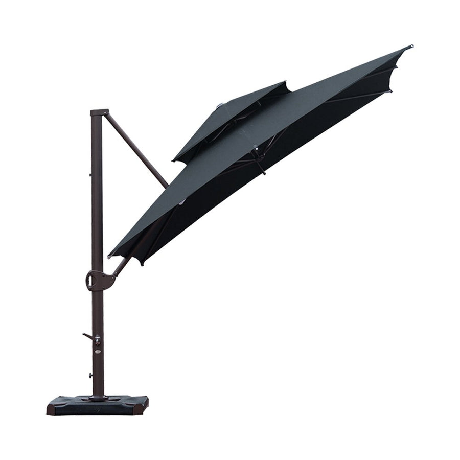 SORARA 10 by 10 ft Deluxe Square Offset Cantilever Umbrella (Cover & Base Weight Included)