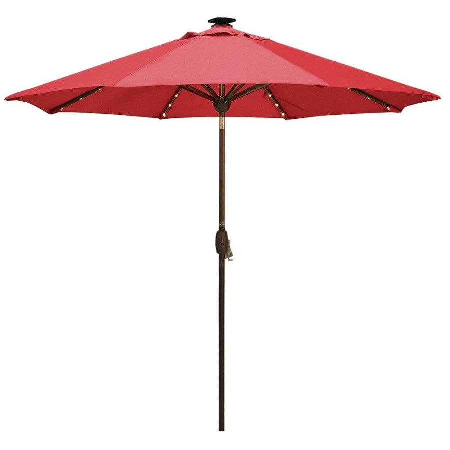 9 Feet Solar Powered Patio Umbrella with 64 LED Lights (Cover Included)