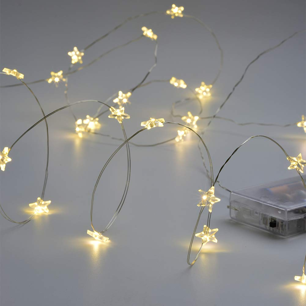 Abba Patio 9.5ft 30LED String Lights Battery Operated for Decoration Wedding Bedroom Garden