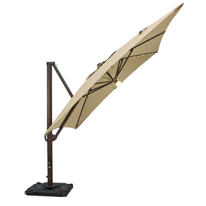 SORARA 10 by 10 Feet Offset Cantilever Umbrella with Lights (Cover & Base Included)
