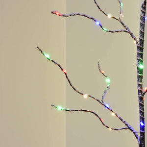 Battery Powered Twig Lighted Branches with Timer, 25Inch 50LED Branch Artificial Tree Lights for Home Decoration
