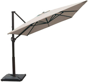 Abba Patio Replacement Top Cover for 8 X 10 Feet Offset Cantilever Umbrella, Sand (Frame not Including)