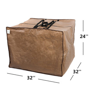Square Protective Zippered Patio Cushion Cover Storage Bag
