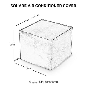 Air Conditioner Cover, Square, Beige