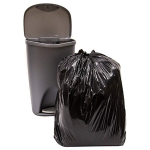 ABBA ECO 33 Gallon Trash Garbage Bag, Black, Qty: 50 count