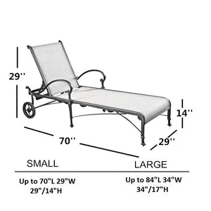 Chaise Lounge Cover 84''L x 34''W x 34''H