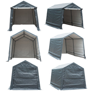 Abba Patio Storage Shelter 7 x 12- Feet Outdoor Shed Heavy Duty Canopy, Grey (Cover only, Frame NOT Included)