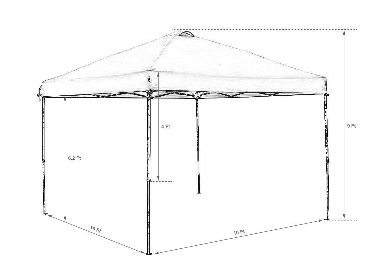 Abba Patio 10 X 10 ft Outdoor Pop Up Canopy Portable Folding Canopy Instant Shelter with Roller Bag  sc 1 st  Abba Patio & Abba Patio 10 X 10 ft Outdoor Pop Up Canopy Portable Folding Canopy In